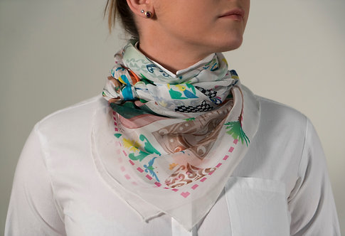 A Walk in Algiers, Illustrated Map Scarf