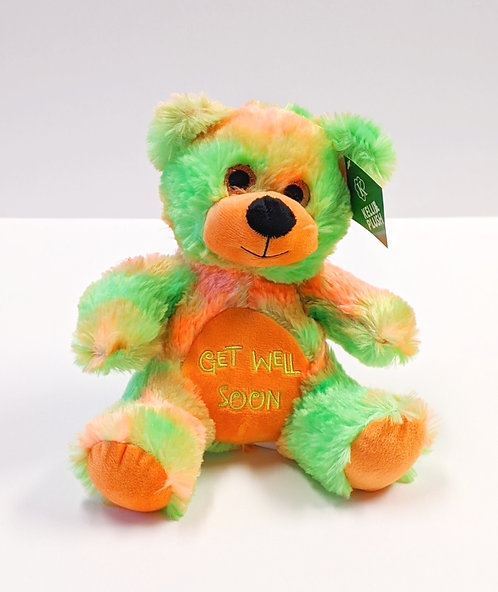 Tie Dye Get Well Bear (Green/Orange)