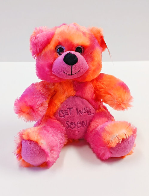 Tie Dye Get Well Bear (Pink/Orange)