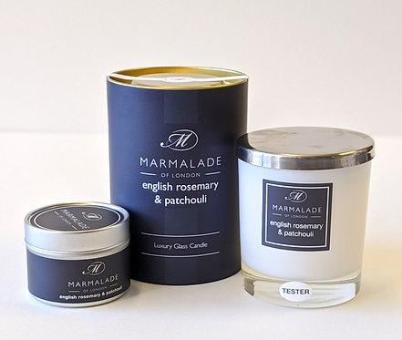 English Rosemary & Patchouli Candle