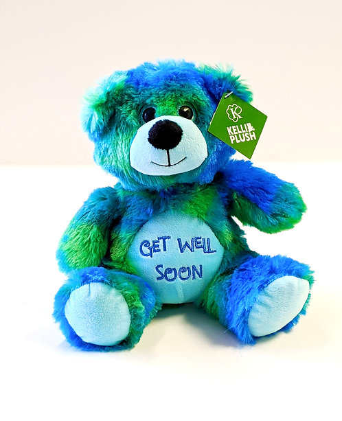 Tie Dye Get Well Bear (Blue/Green)