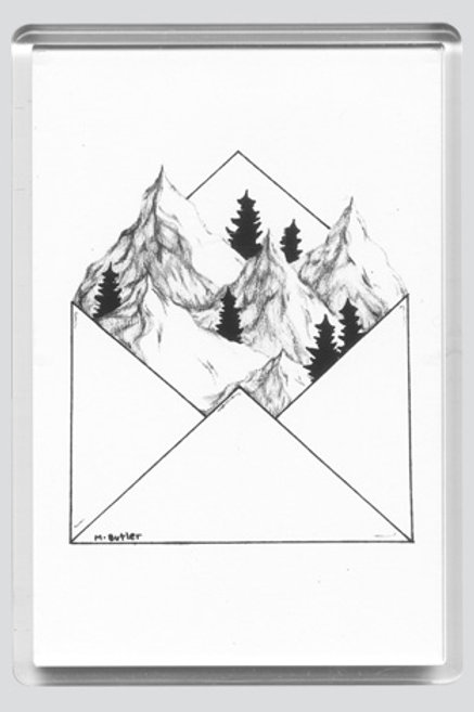 Fridge Magnet - Snowy Peaks