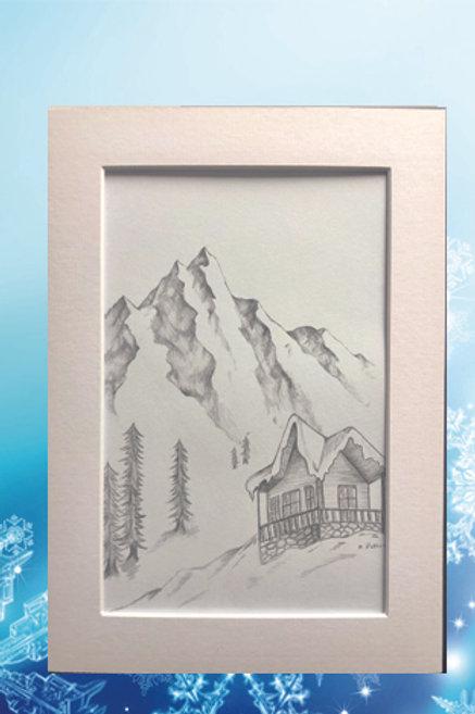 Original printed artwork - High Peaks