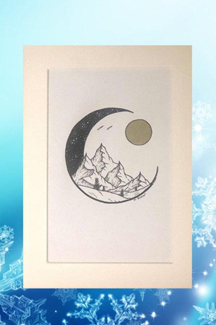 Original printed artwork - New Moon