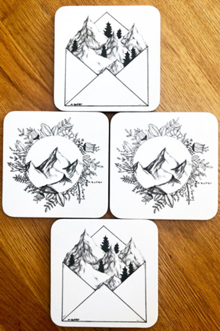 Drinks Coasters - Set of four
