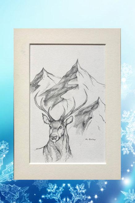 Original printed artwork - Stag