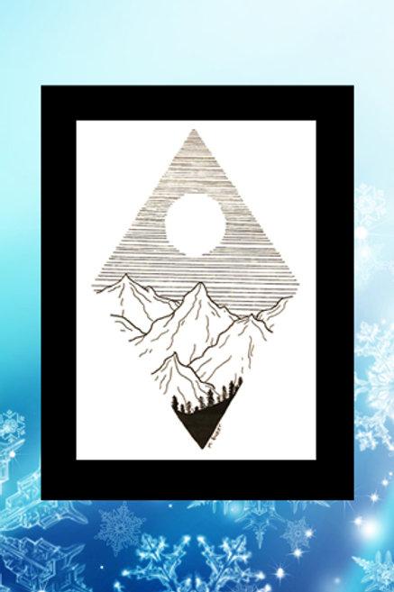 Original printed artwork - Diamond Peaks