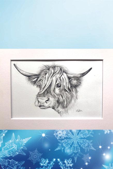 Original printed artwork - Alpine cow