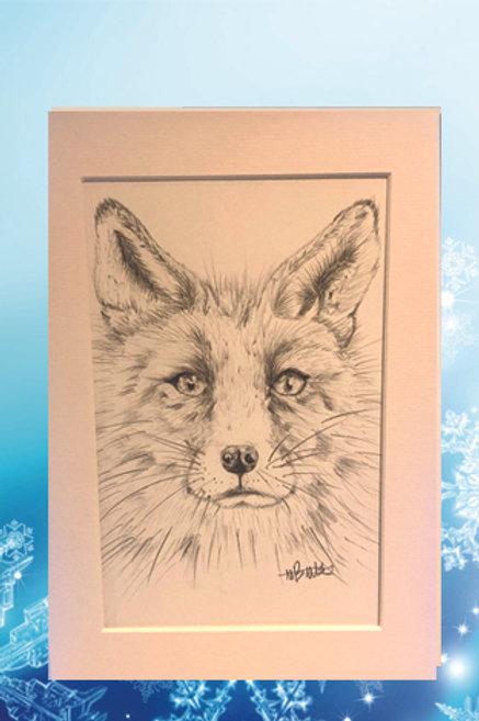 Original printed artwork - Red fox