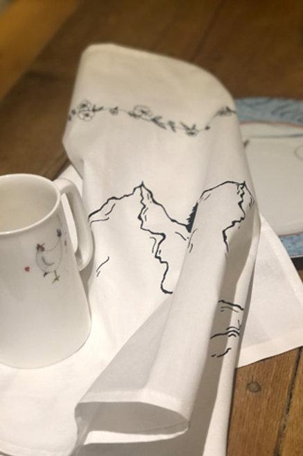 Hand-Drawn Tea Towel