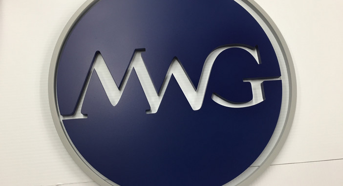 MWG International logo, FL