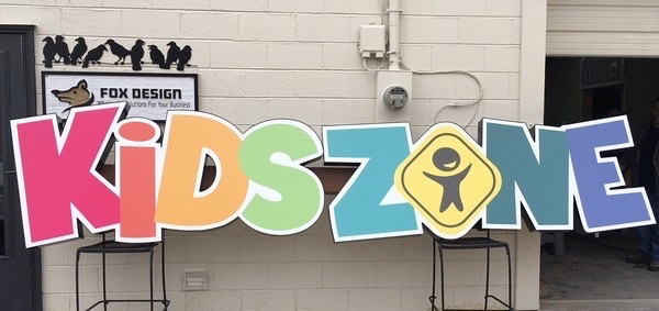 This sign lets everyone know that KIDS are the customer