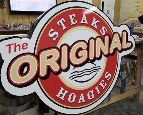 Authentic Steak & Hoagie Logo channe