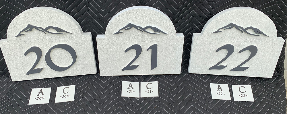 Laser cut numbers & letters for Apartment doors and ADA signs