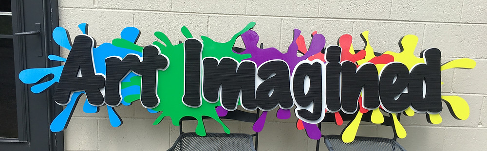 Sandblasted letters w/acrylic letters-Colorful!