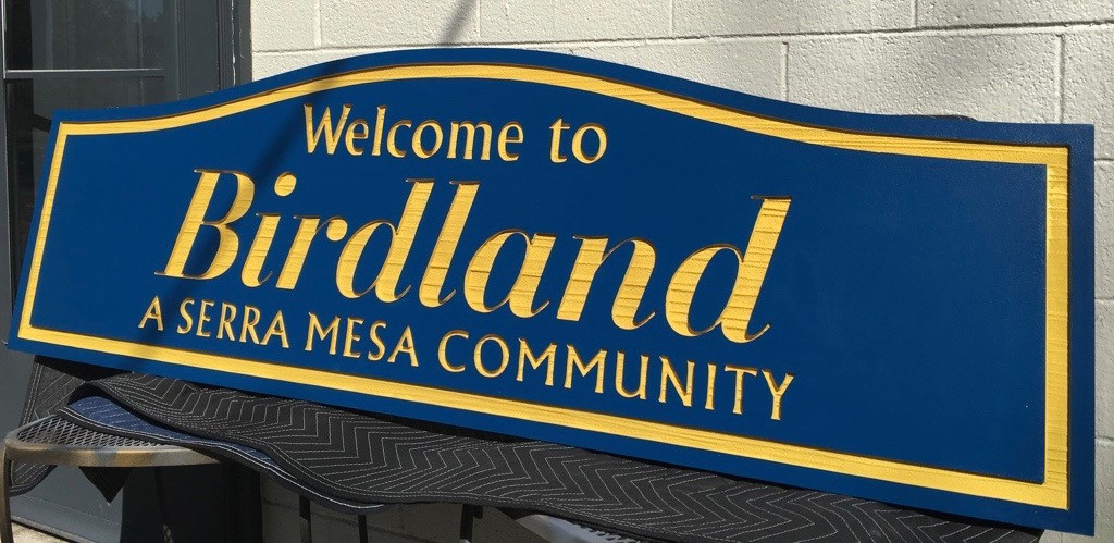 Birdland Community Neighborhood Sign, CA