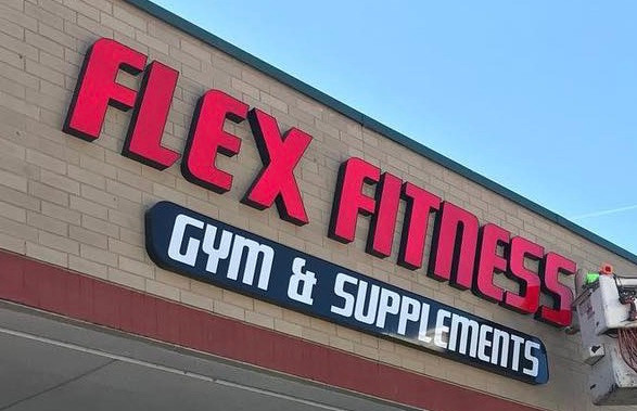 Flex Fitness Channel Letters & cabinet, KY