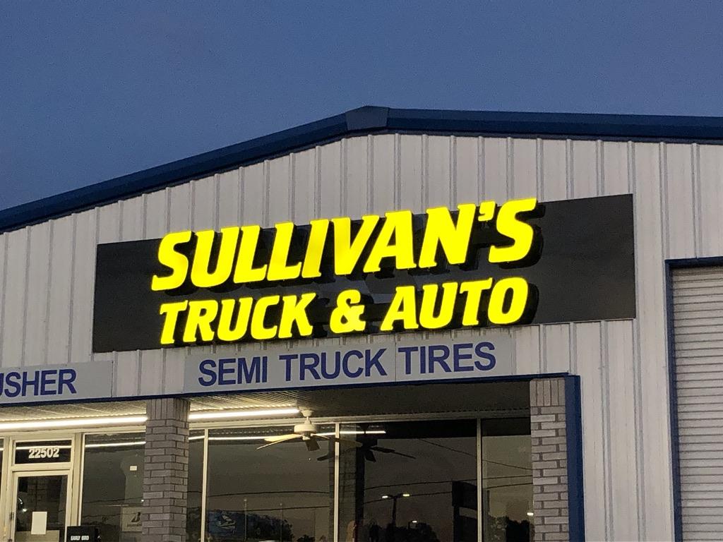Sullivan's Truck & Auto Channel Letters,