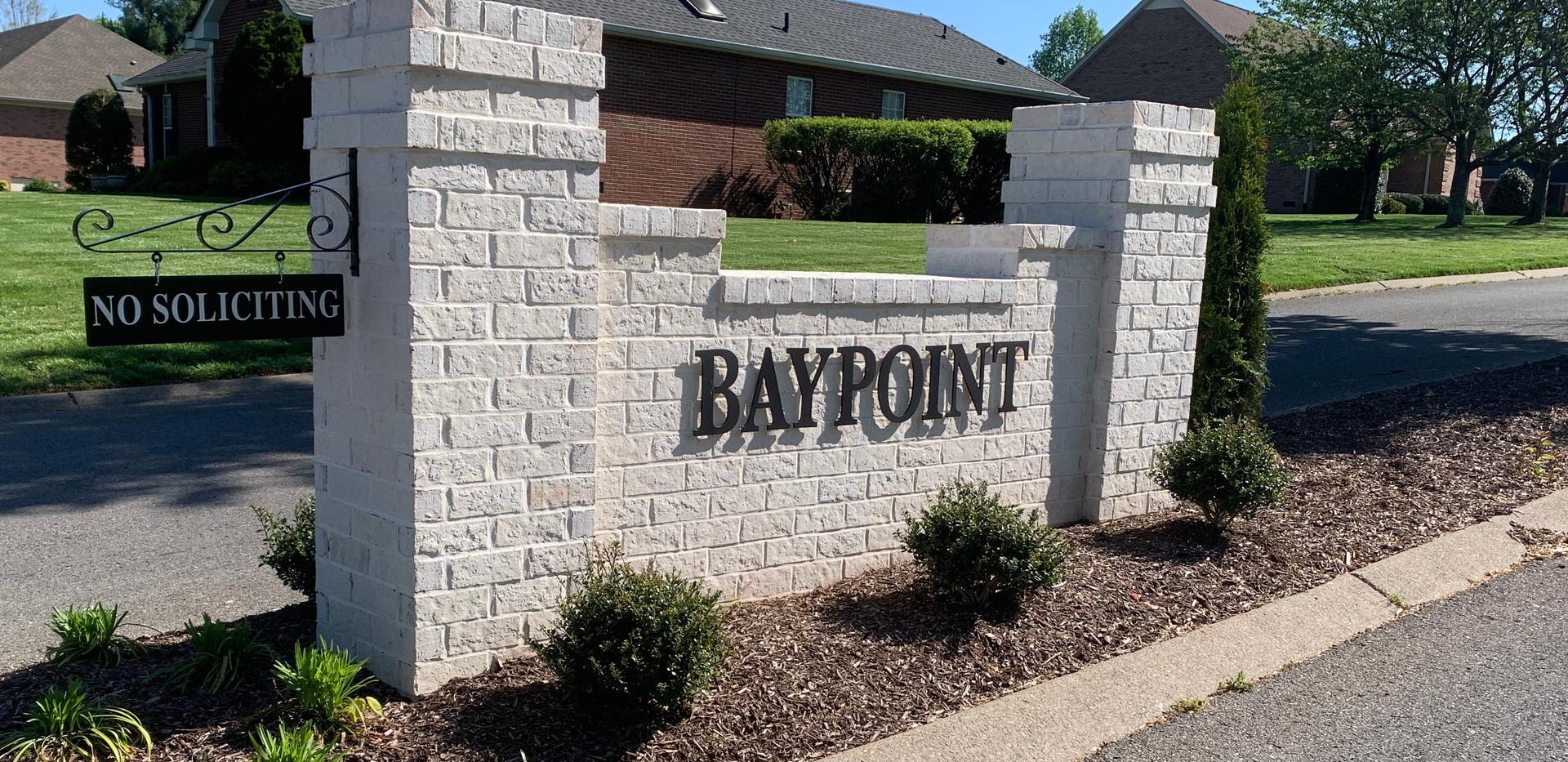 Baypoint - Aluminum Cut Letters, TN