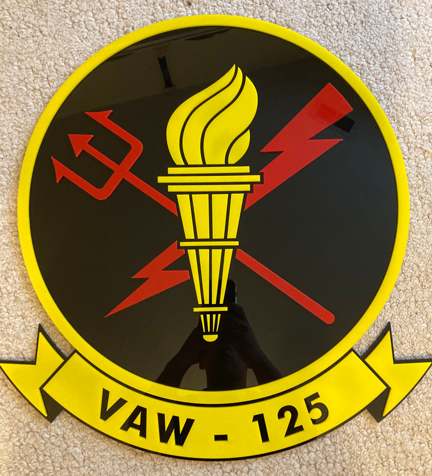 "VAW-125 ""Tigertails"" insignia"