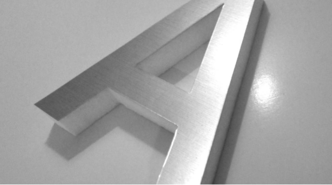 Aluminum Letter