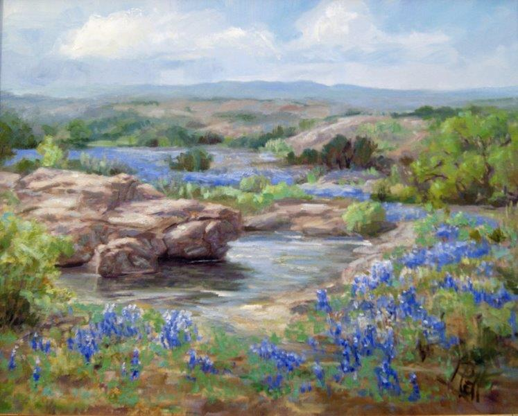 1949 BLUEBONNETS AT TURTLE ROCK