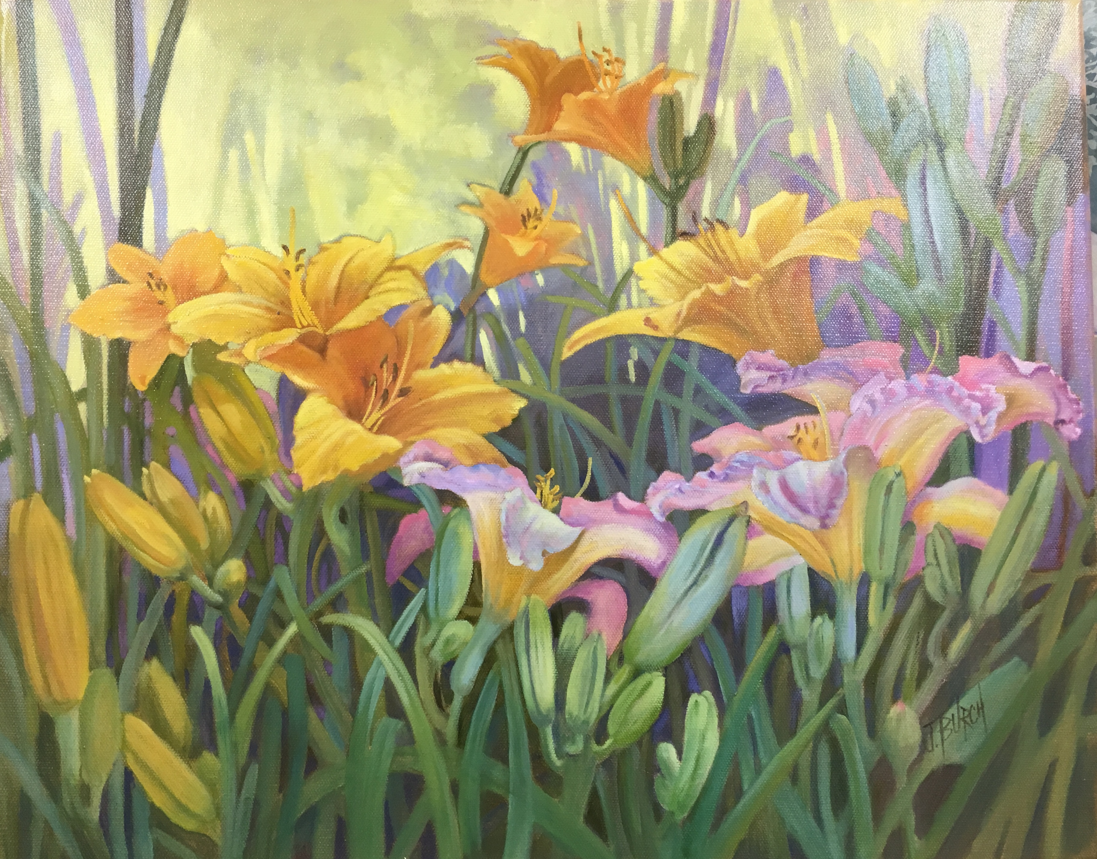 2018-Day Lily Heaven- oil on canvas- 16