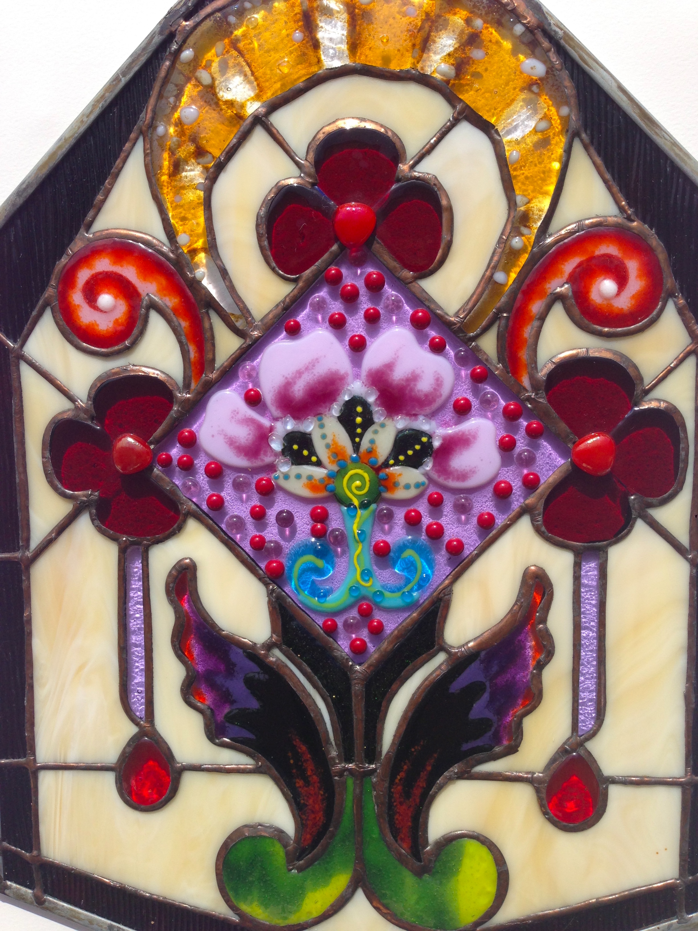 fused&stained glass window