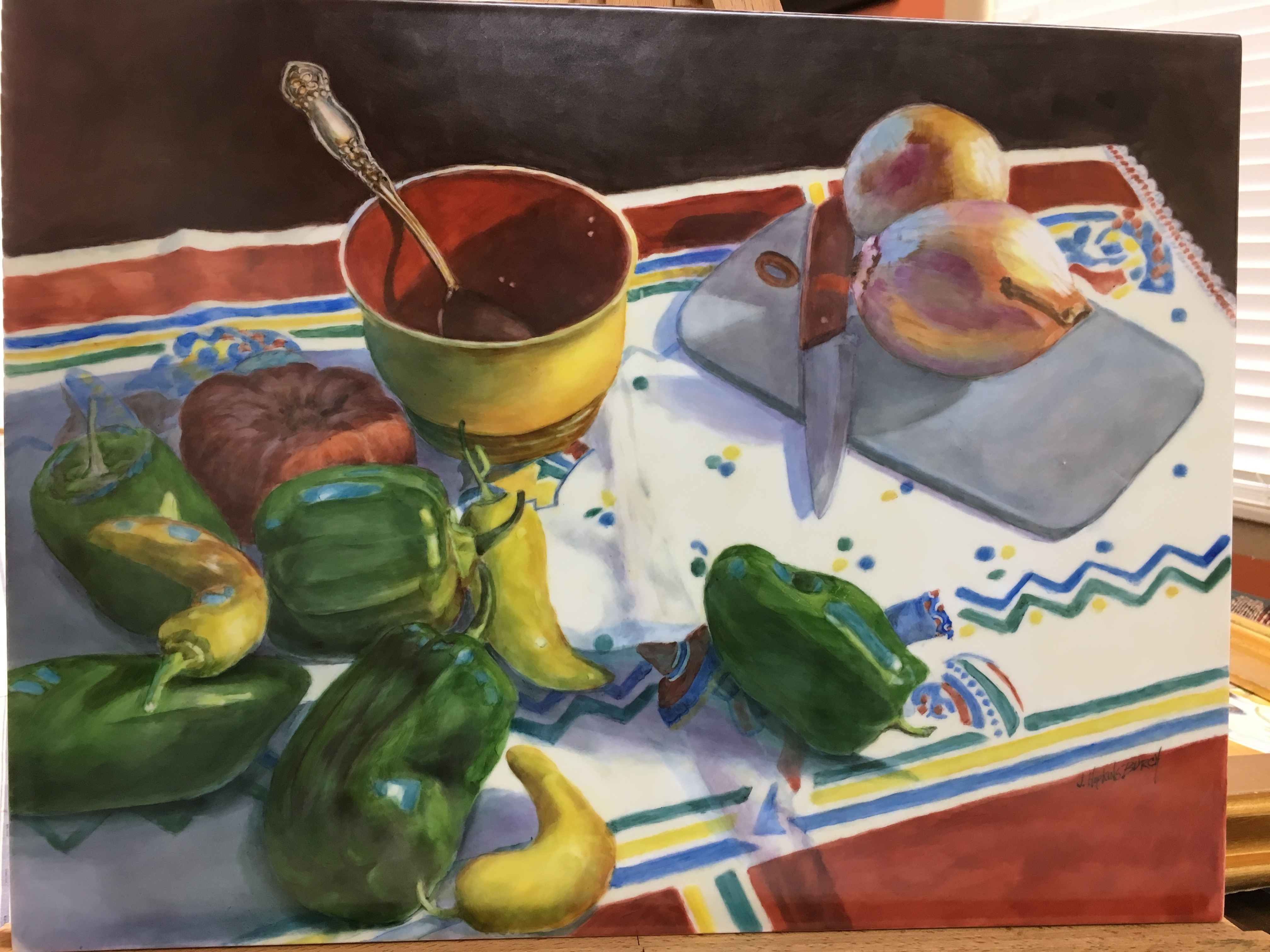 2018-Could be Salsa Someday  oil on porc
