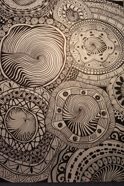 Lettie Duncan ~ Swirl of Life ~ Ink draw