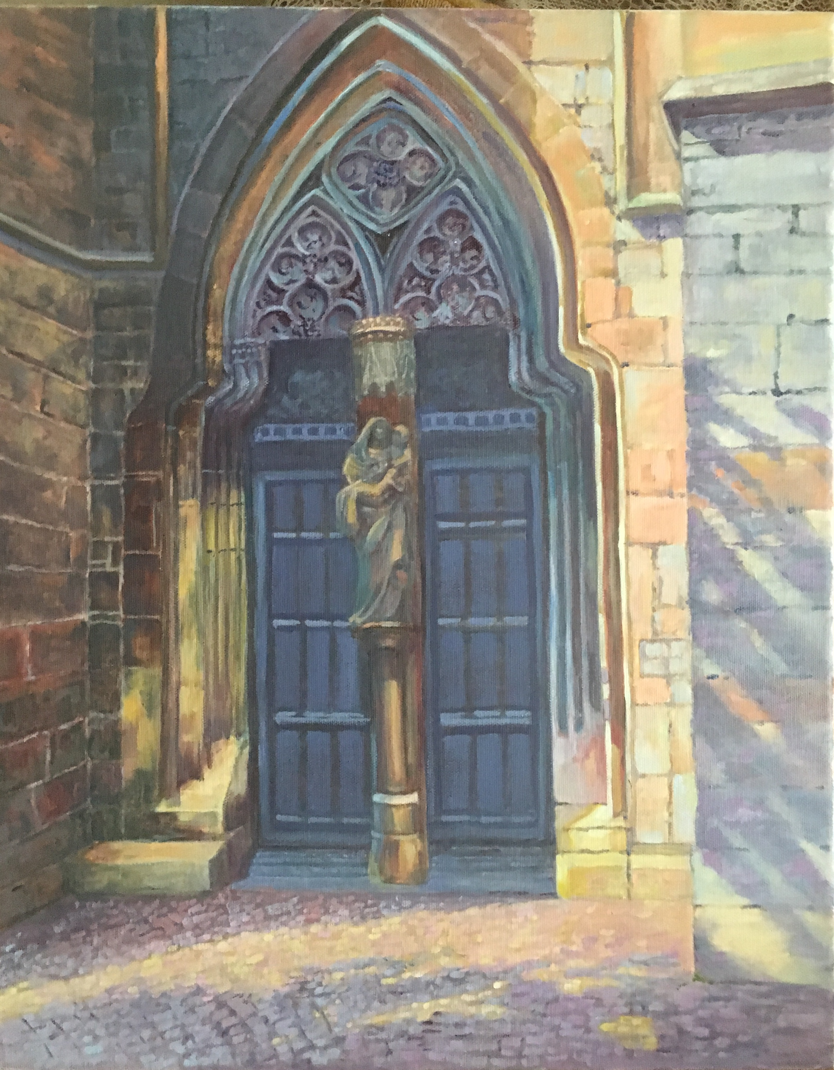 2019-Cathedral Door  Oil on canvas