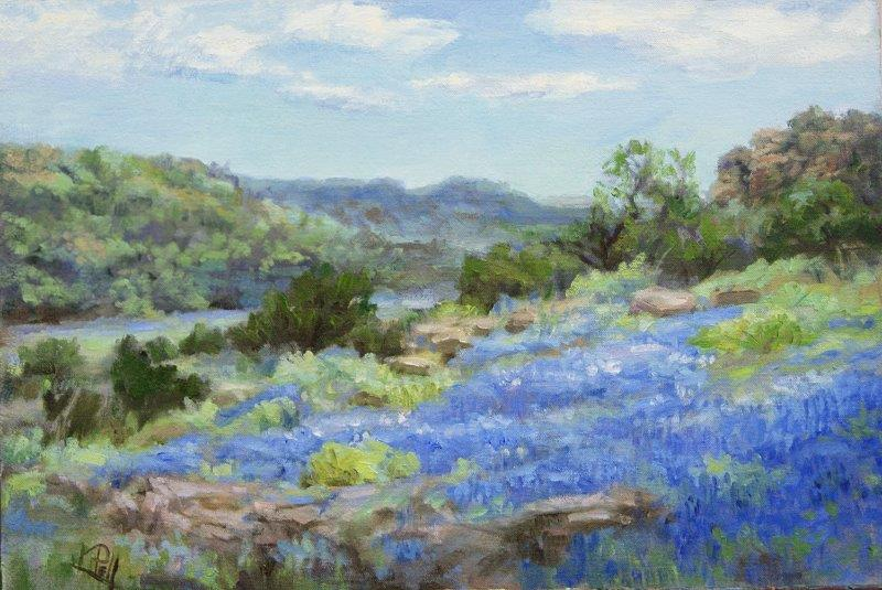 1952 TEXAS HILL COUNTRY BLUEBONNETS