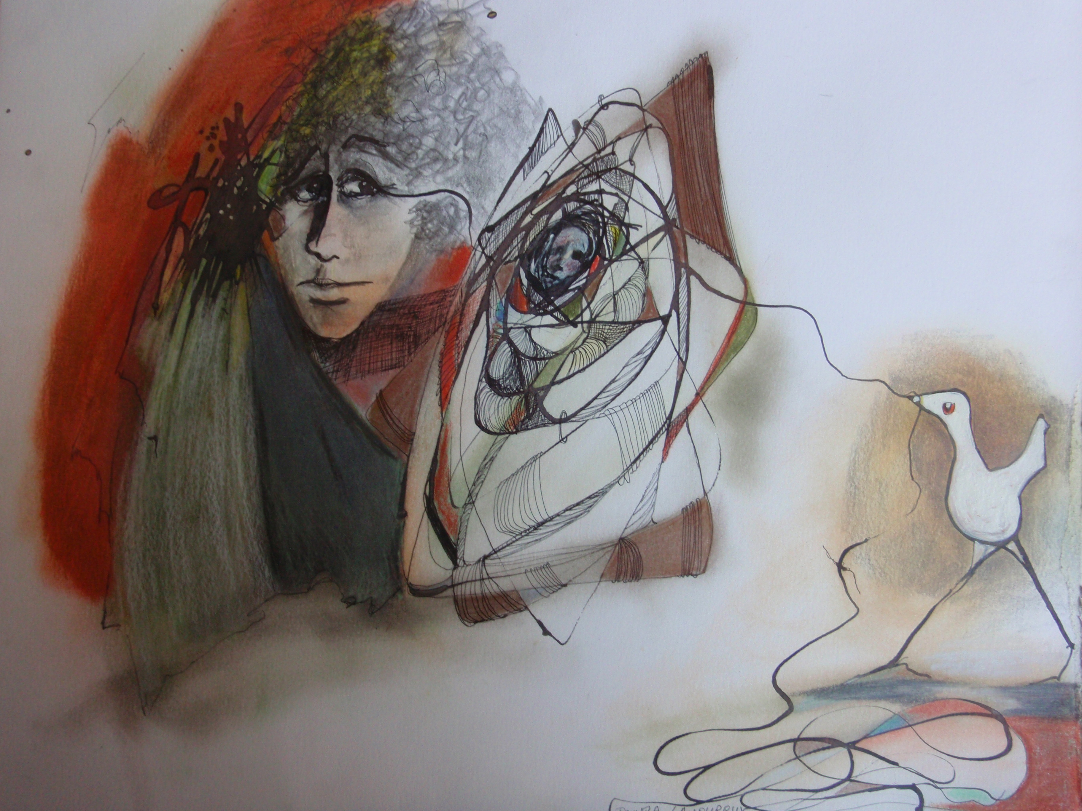 09-UNRAVELING OF SELF Drawing on Paper 1