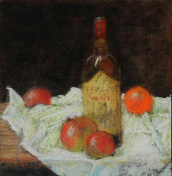 Bottle-and-Fruit