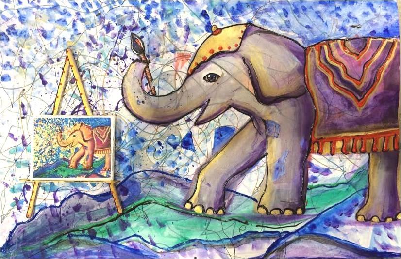 Vicki-Evans-Elephant-Painting