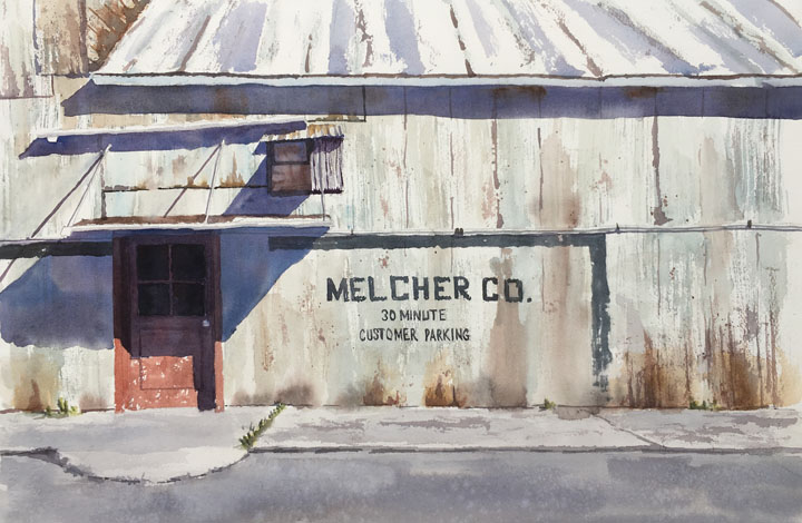 Melcher Co - 14x21 - watercolor