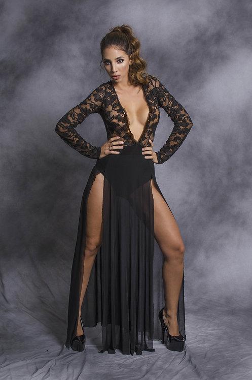 Sexy and daring black dress