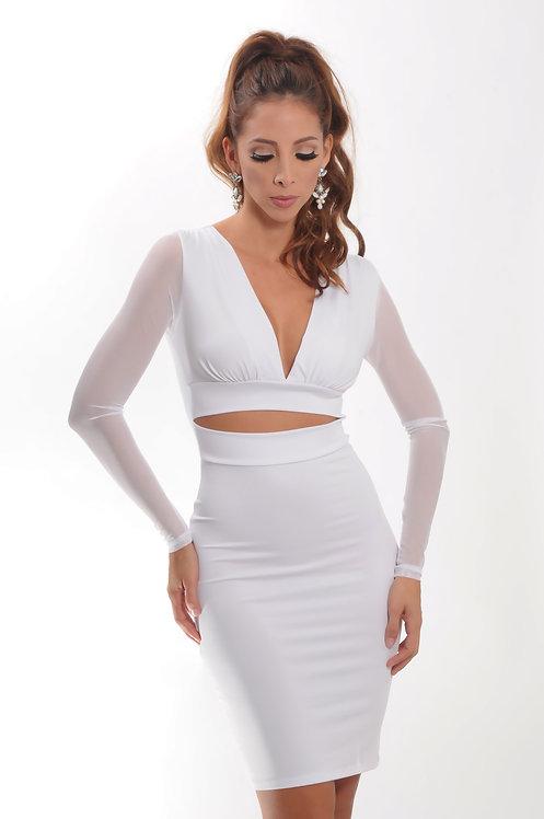 White two-piece dress