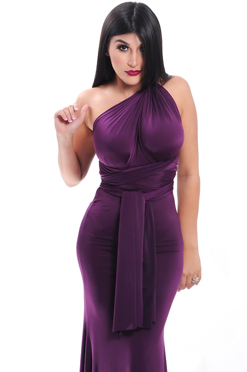 Sexy long purple dress