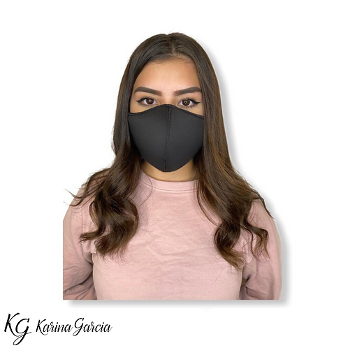 KG Face Mask Black Plain