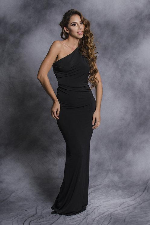 Black sleeveless dress nine different changes