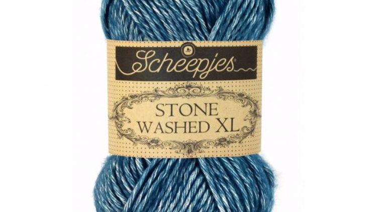 Stone washed xl - blue apatite - 50gr - aig 5
