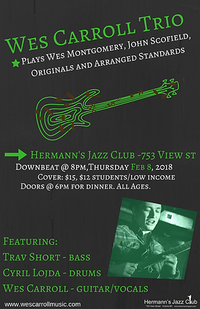 Our fist trio gig at Hermann's!