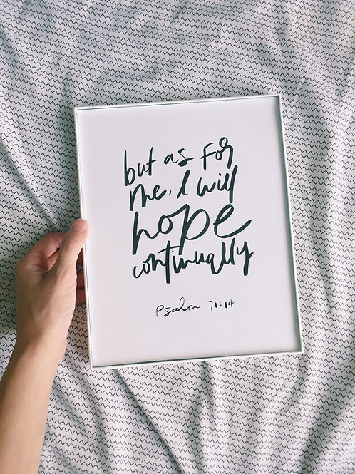 Psalm 71:14 | Hope continually