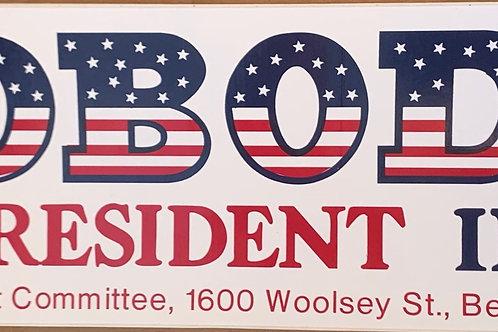 Nobody for President '84 Bumper Sticker