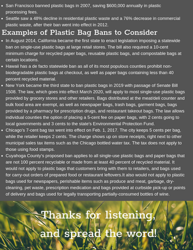 Plastic Bags: Facts and Info 2/2