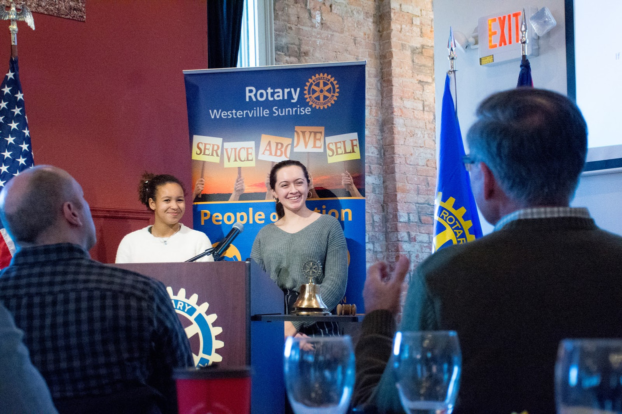 WSEF Presents to Westerville Sunrise Rotary