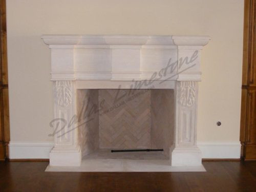 Austin-white-limestone-three-column-fire