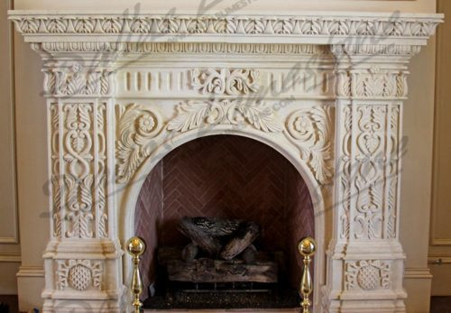 Cream-Limestone-detailed-acanthus-firepl