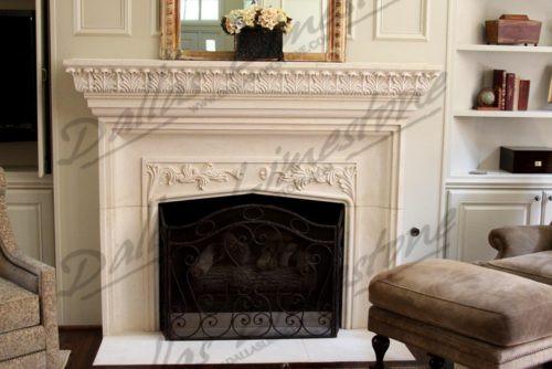 Austin-white-limestone-acantus-fireplace